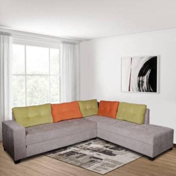 ELTOP sofa set for corner hall\ living room\ bedroom L shape Fabric 6 Seater  Sofa