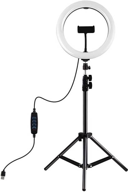 BUFONA New Arrival 10 inch LED Ring Light With 7 Ft Tripod Stand Strong Metal mobile phone tripod/camera stand,beauty ring fill light stand , BFA-RN78PT Ring Light tripod For Video Beauty Makeup Selfie Live Portrait Circle LED Lights Ringlight photography umbrella for selfie video recording funny video , Presentation, online class , photo shoot, nigh mode photoshoot ,Studio, Musically Tripod holder with mobile phone clip Tripod Kit Ring Flash mobile phone tripod/camera stand Tripod, Tripod Kit, Tripod Ball Head, Monopod Kit, Tripod Bracket