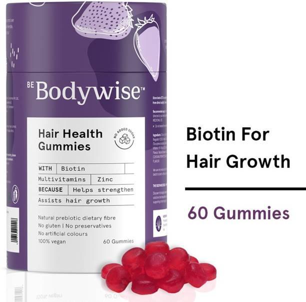 Bodywise Biotin Hair Gummies for Hair Growth   60 Gummies