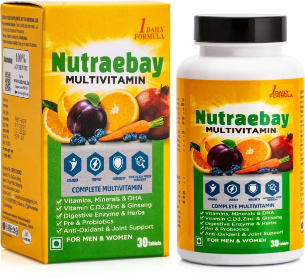 NUTRAEBAY Multivitamin With Minerals, Herbs, Antioxidant, Enzymes, Ginseng, Pre & Probiotic