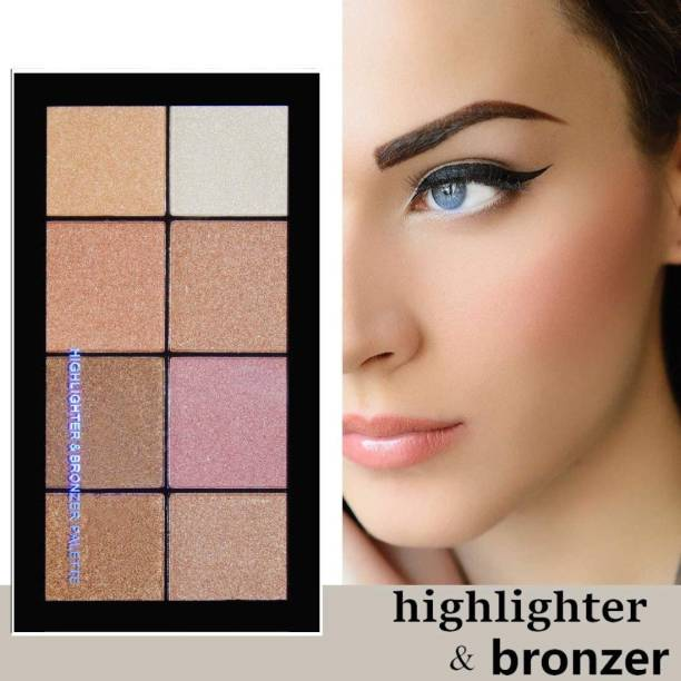 GULGLOW99 makeup high smudge proof 8 color highlighter & bronzer palette