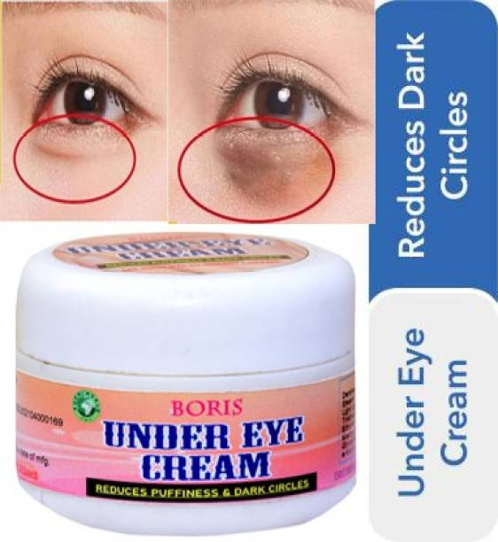 BORIS UNDER EYE-Reduces the appearance of Dark circles-Bye Bye Dark Circles Under Eye Cream || Reduces Eye Puffiness, Eye Bags || Improves Firmness under the Eye Skin || Under Eye Cream for Dark Circle || Dark Circle Remover Cream for Women & Men[PACK OF ONE]