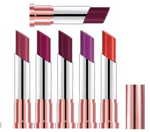 ps herbal ECOSTAY MAATE LIP COLOUR PACK OF 6 LIPSTICK SET MIX SHADE