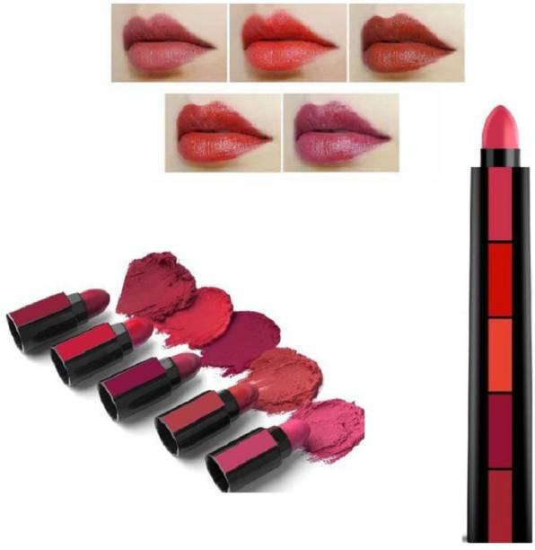 Insta Beauty Velver Matte 5 in 1 Fabulous Lipsticks 5in1