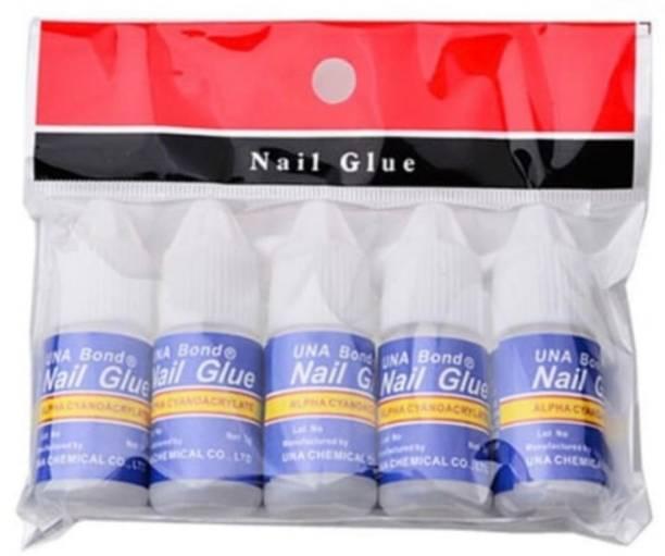 LOWPRICE 5Pcs Nail Glue For Artificial Nail Waterproof Nail Adhesive Bottle Acrylic nails Professional Nail Art Gum Fake Nails Extension