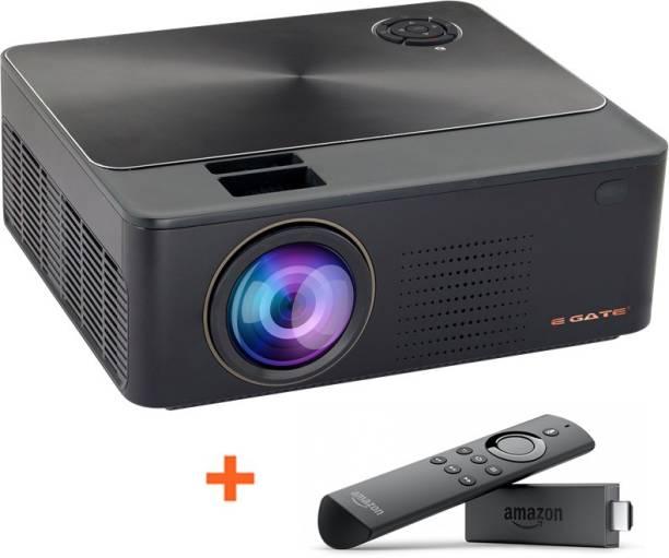 Egate K9 HD + Amazon Fire TV Stick (3000 lm / 2 Speaker / Wireless / Remote Controller) Projector