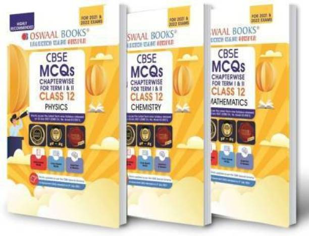 Oswaal CBSE MCQs Chapterwise Question Bank For Term I & II, Class 12 (Set Of 3 Books) Physics, Chemistry, Mathematics (With The MCQ Question Pool For 2021-22 Exam)