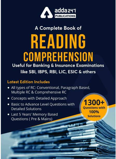A Complete Book OF READING COMPREHENSION (English Printed Edition)