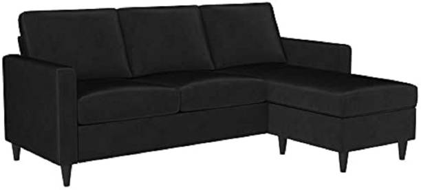 CHANDRIKA ENTERPRISES Leatherette 3 + 1 BLACK Sofa Set