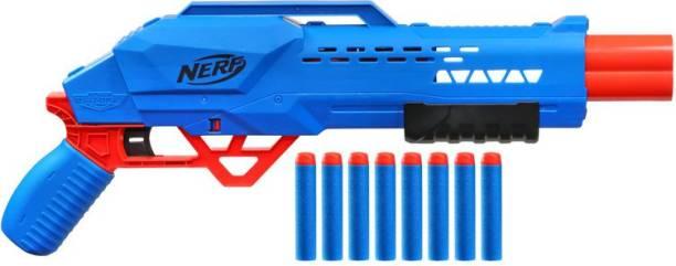 Nerf Alpha Strike Big Cat DB-2 Blaster - Double-Barrel Blasting, Fires 2 Darts in a Row - Includes 8 Darts Guns & Darts