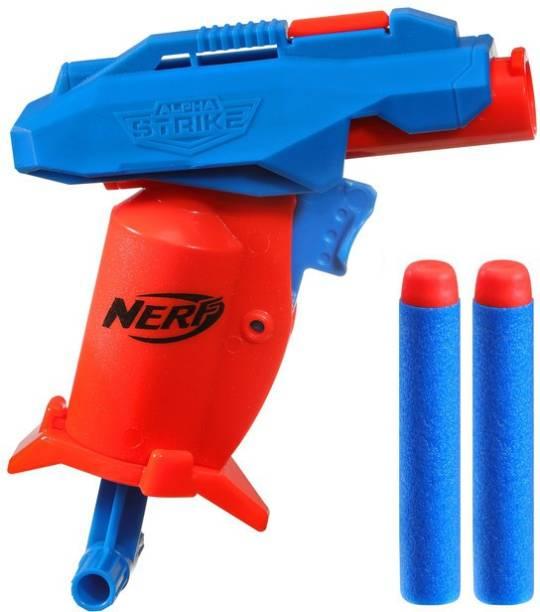 Nerf Alpha Strike Slinger SD-1 Single-Fire Dart Blaster and 2 Official Elite Foam Darts -Easy Load Prime Fire Guns & Darts