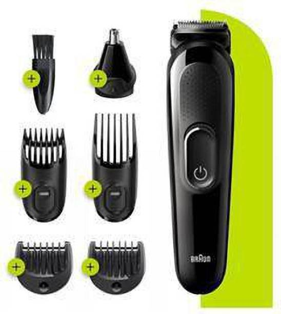Braun Hair Clippers for Men MGK3220, 6in1 Beard Trimmer, Ear & Nose Trimmer, Cordless & Rechargeable  Runtime: 50 min Grooming Kit for Men