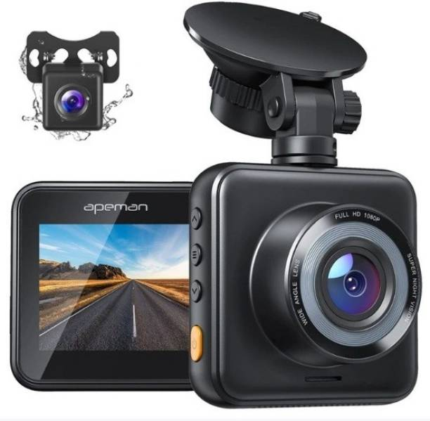 Apeman C420D Dual Dash Cam Front and Rear Car Camera Driving Recorder with Night Vision, 170° Wide Angle, G-Sensor, Parking Monitor, Loop Recording, Support Micro 32-128GB Vehicle Camera System