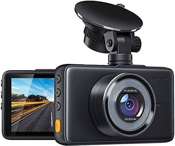 Apeman Dash Cam 1080P FHD DVR Car Driving Recorder 3 inch LCD Screen 170 Degree Wide Angle, G-Sensor, WDR, Parking Monitor, Loop Recording, Motion Detection Vehicle Camera System
