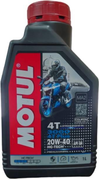 MOTUL 3000 4T Plus 20W40 HC Tech Engine Oil for Bikes Premium Mineral Engine Oil (1L) Mineral Engine Oil