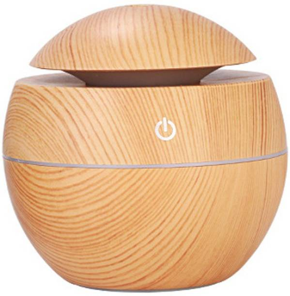 SEVENSPACE Mini Portable Wood Aromatherapy Humidifier Office Desktop Home Travel Water Spray Mist Humidifier Portable Room Air Purifier Portable Car Air Purifier
