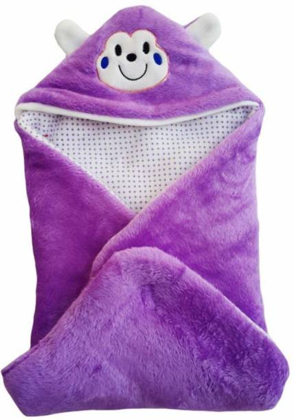 Miss & Chief Solid Single Hooded Baby Blanket
