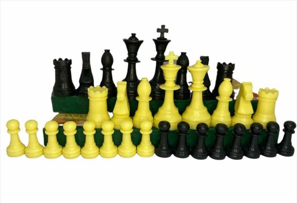 JOJOMART Solid Body 2 Inch Chess Pawns Coins - Pack of 32 9.7 cm Chess Board