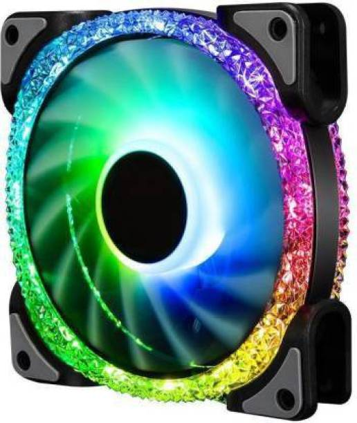 Obvie 120 Auto RGB Fans 120mm RGB Case Fans, Crystalized Dual Light Loop RGB LED Fans, RGB Gaming PC Fans, Quiet Cooling Computer Fans Cooler