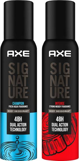 AXE Signature Intense and Champion long Lasting No Gas Deo Perfume For Men (Pack of 2) Body Spray  -  For Men