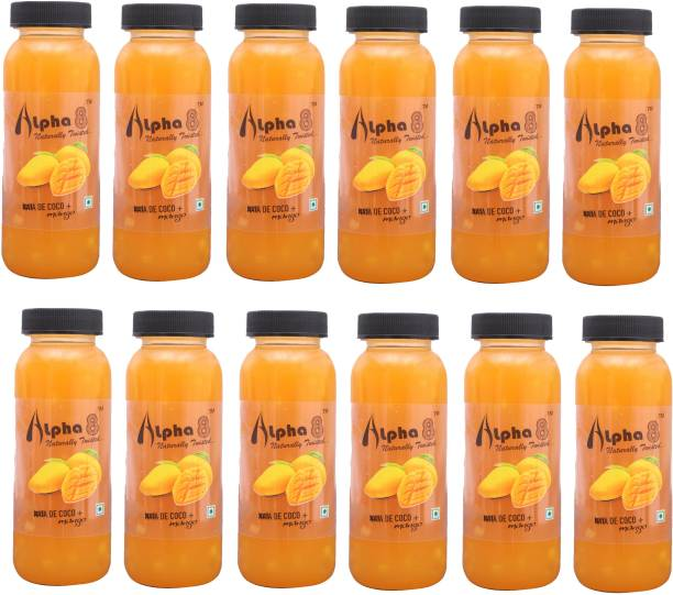 ALPHA 8 Mango Juice (12 x 200ml) Natural Energizer & Immunity Booster, Healthy Juice, Real Natural Taste