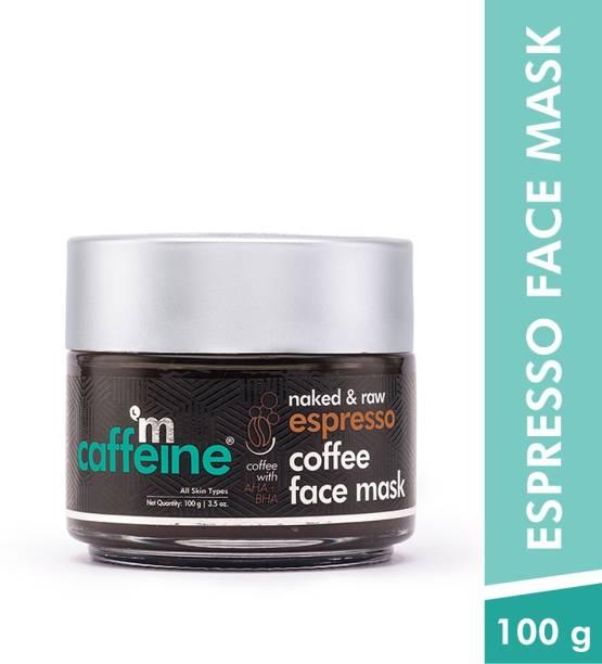 MCaffeine Espresso Coffee Face Pack Mask   Exfoliation, Pore Tightening   Natural AHA, BHA   All Skin Types   Paraben & Cruelty Free