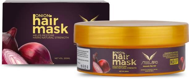 Steelbird Hair Care Red Onion Black Seed Oil Hair Mask for All Hair, 200ml