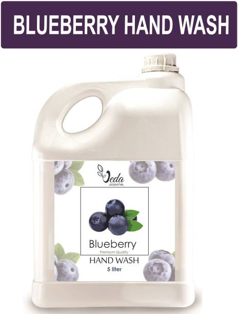 Veda BLUEBERRY Ph balanced Handwash Liquid - 5 Litre refill can, For Soft and Moisturizing hand Hand Wash Bottle