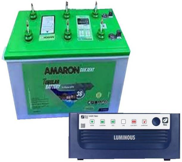 amaron AR145ST36 +Luminous ECO WATT NEO 900 Tubular Inverter Battery