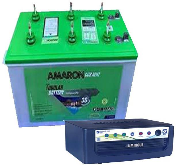 amaron AR145ST36 +Luminous ECO VOLT SW 1050 Tubular Inverter Battery