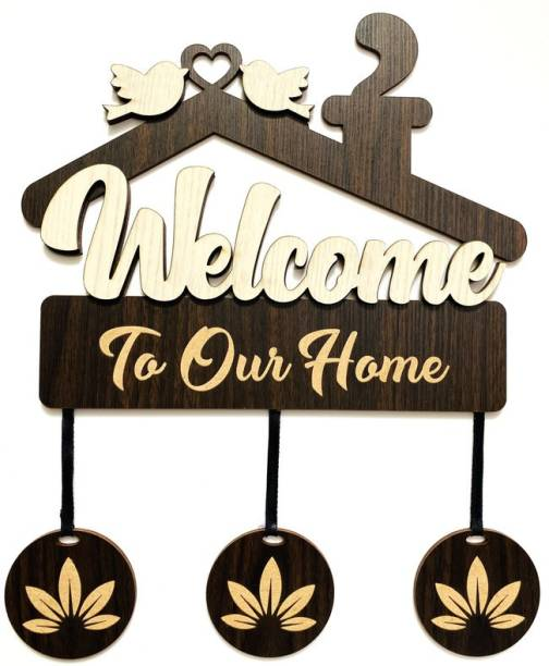 P Arts Wooden Welcome Home Name Plate