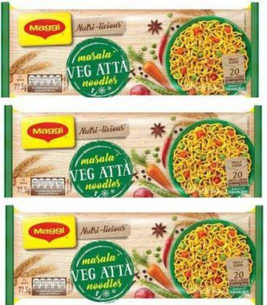 Maggi Nutri-licious Atta Masala Instant Noodles Vegetarian 870g (290g*3} Instant Noodles Vegetarian Instant Noodles Vegetarian