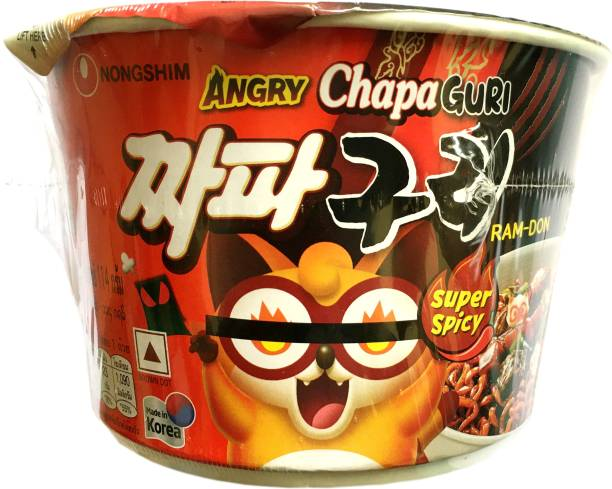 Nongshim Angry Chapa Guri Bowl Super Spicy Imported 114G Cup Noodles Non-vegetarian