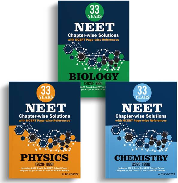 33 Years NEET Chapter Wise Solutions With NCERT Reference For Physics, Chemistry And Biology Package (2020 - 1988)