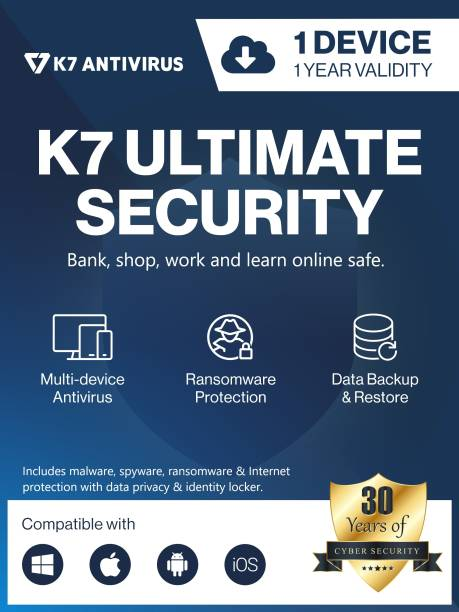 K7 Security Ultimate Security 1 User 1 Year