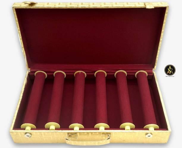 Rasafa Trendy Bangle Box 6 Rods Vanity Box Cosmetic Box Vanity Box