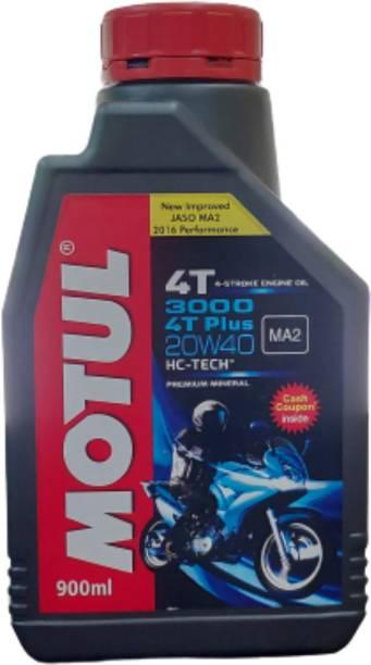 MOTUL 3000 4T PLUS 20W-40 HC-TECH 4 STROKE ENGINE OIL Mineral Engine Oil