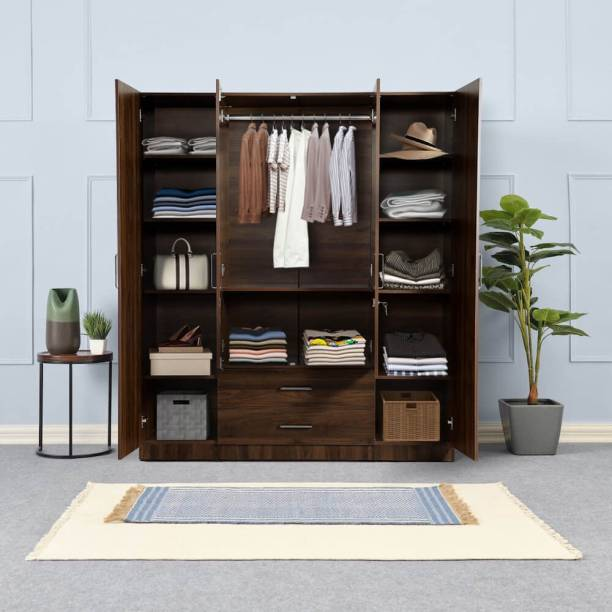 Wakefit Organza Plus Engineered Wood 4 Door Wardrobe