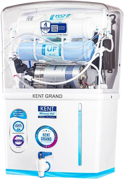 KENT Grand (11119) 8 L RO + UV + UF + TDS Control + UV in Tank Water Purifier