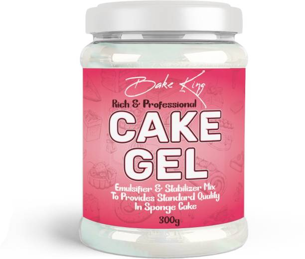 Bake King 300gm Cake Gel for Desserts, Toppings & Decoration | Professional Baker Choice | Excellent for Eggless Baking | Goods for ice cream, Toppings, Waffle, and Fillings Topping