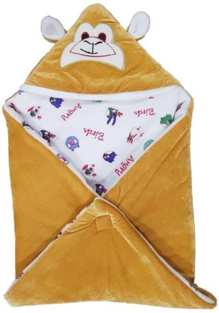 Miss & Chief Cartoon Single Hooded Baby Blanket
