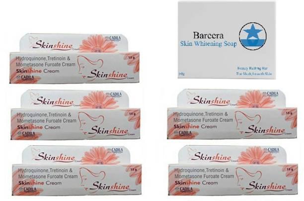 Bareera Beauty Soap 50g With Skinshine SKIN TRETMENT CREAM PACK OF 6