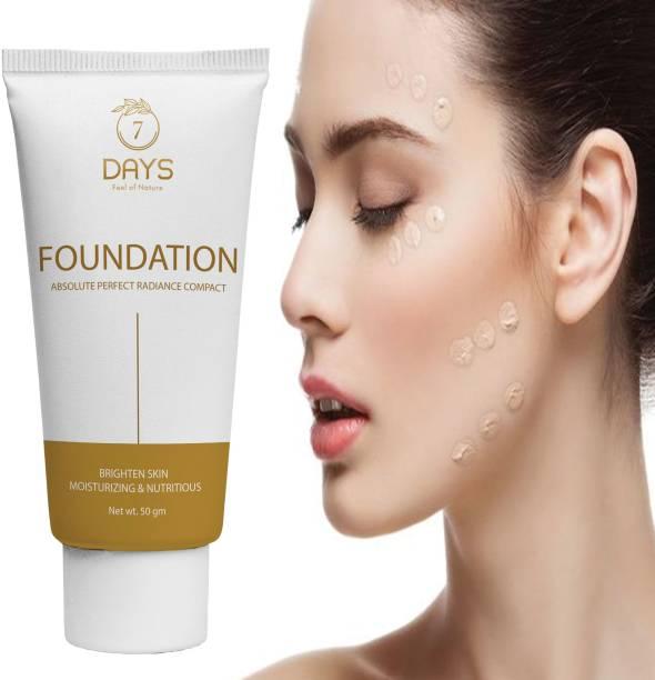 7 Days Complexion Care Face Cream - Bronze Foundation Invisible Finish SPF 8  Foundation