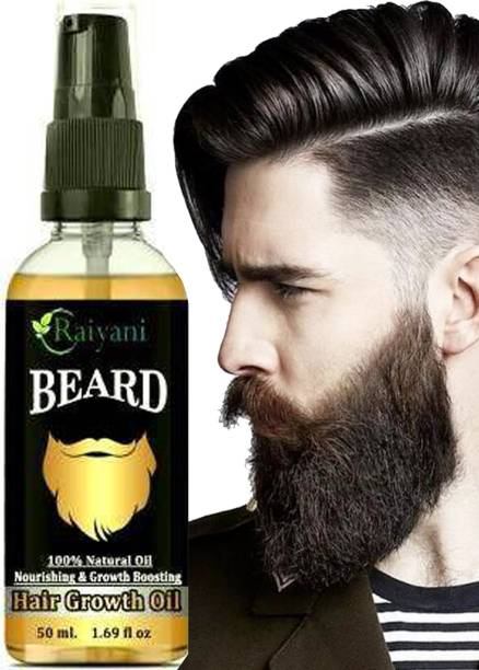 Raiyani Beard Growth Oil More Beard Growth,8Natural Oils including Jojoba Oil, Vitamin E, Nourishment & Strengthening, No Harmful Chemicals beard growth oil for men  Hair Oil