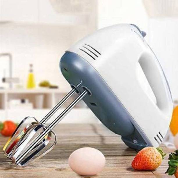 EMMKITZ Hand Mixer Beater Blender Electric Cream Maker For Cakes With Base 7 Speed Control & 2 Stainless Steel Beaters, 2 Dough Hooks(Multicolor)#BestBuy 260 W Electric Whisk, Hand Blender (Multicolor) Mixer Blender Blade