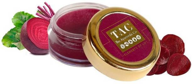 TAC - The Ayurveda Co. Betroot Lip Butter for Women and Men| Ayurvedic Lip Butter enriched with Cocoa Butter, Shea Butter for Dry and Chappy Lips - Parabens and Sulphate free Beetroot, Cocoa Butter, Shea Butter