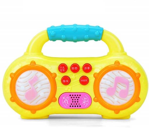 ARONET Musical radio shape mini piano toy, Baby Musical Piano Light Up Toy ,Crib Music Toy for Babies and Toddlers for Boys and Girls (Random colors)