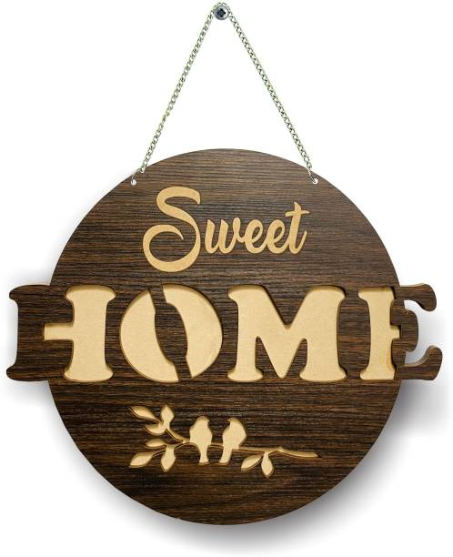 P Arts Wooden Welcome Plate Name Plate