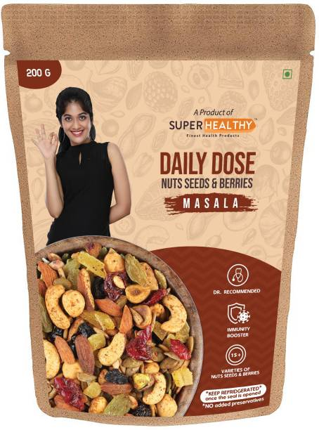Super Healthy Daily Dose Masala   20 + Varieties of Nuts, Seeds & Berries   Dietary Food for Immunity Boost and General Wellness (200g) Assorted Seeds & Nuts
