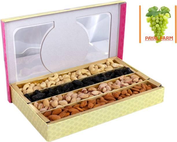 payal farm Diwali Dry Fruit Gift Box-Almonds, Cashew, Raisins, Pistachio-800gms Assorted Nuts (4 x 200 g) Assorted Nuts